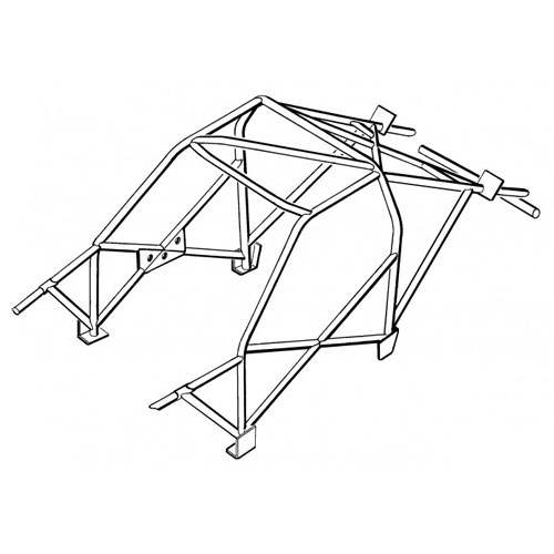 Safety Devices Bmw E36 6 Point Weld In Roll Cage With Sunroof